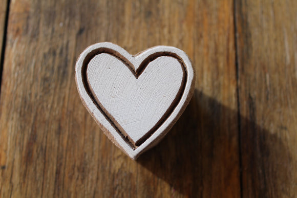 Full Heart Print Block