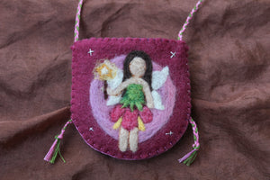 Faerie Rose Pouch Necklace