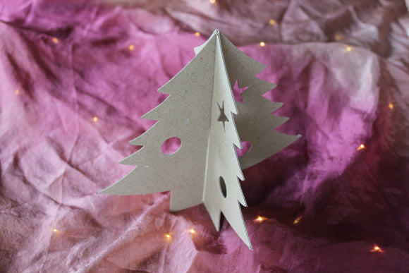 Paper Mache Interlocking Christmas Tree