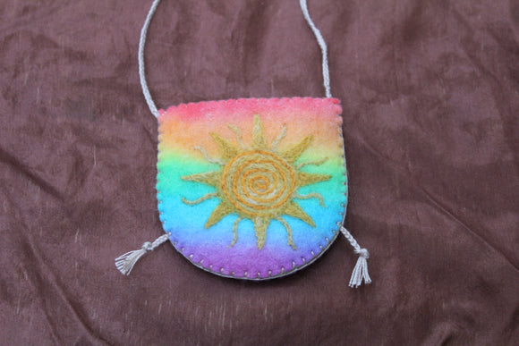 Rainbow Sun Pouch Necklace