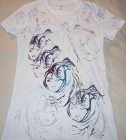 Glamour Girl White T-Shirt Colorful
