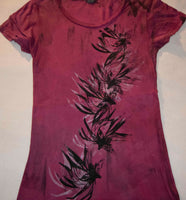 Night Bloom Hand Dyed Red T-Shirt