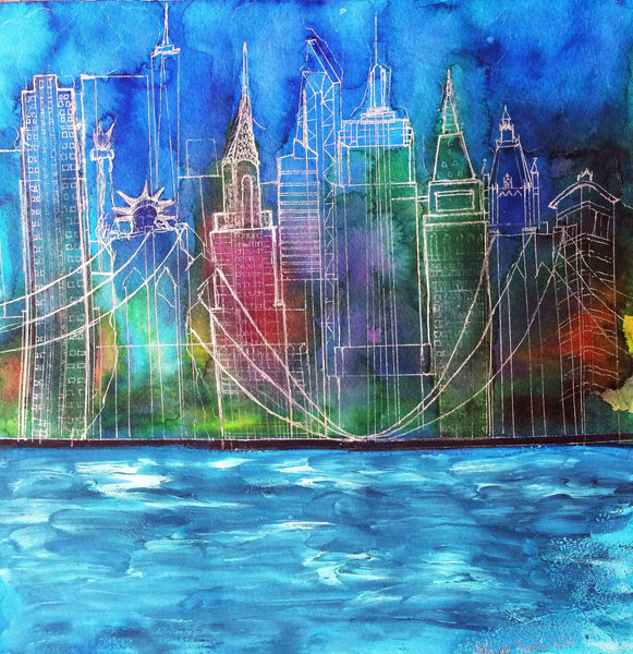 New York Painting Art Print