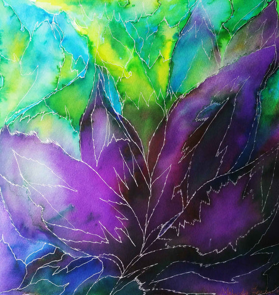 Purple Leaf Art Print