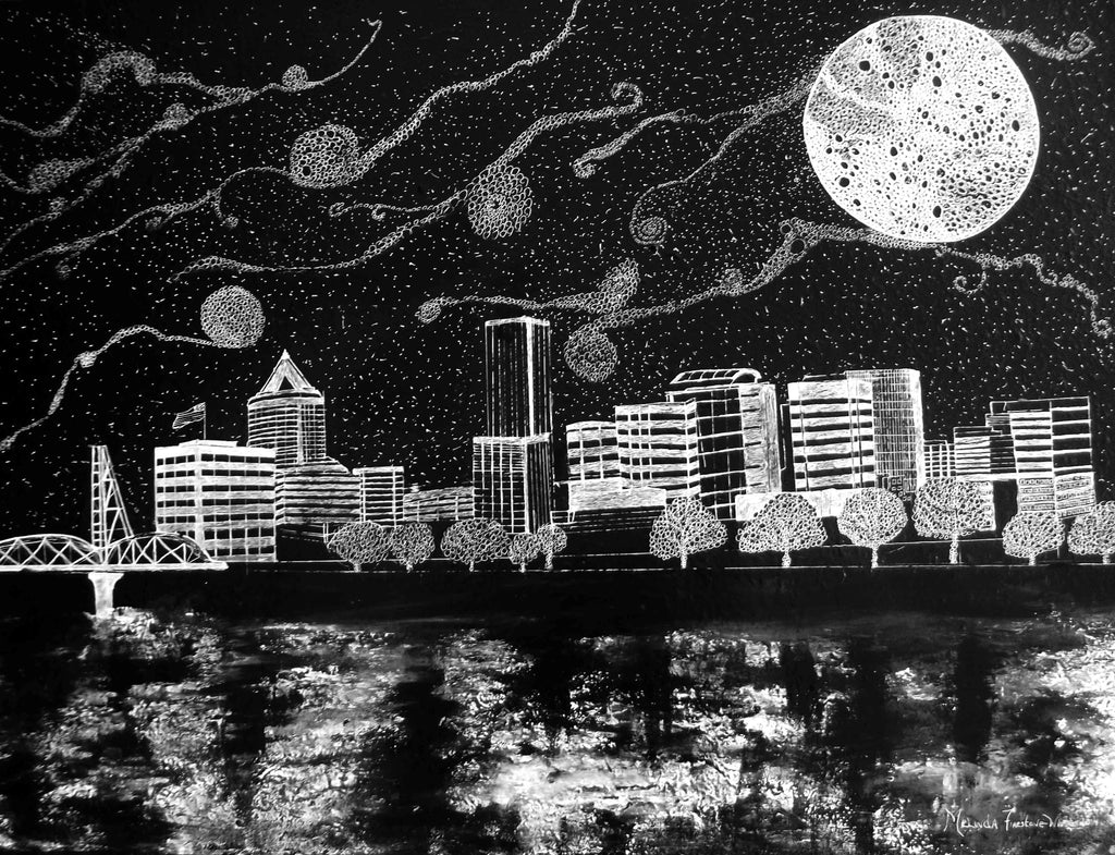 Portland Skyline Artwork