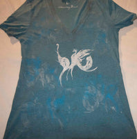 Dancing Birds Blue Triblend T-Shirt