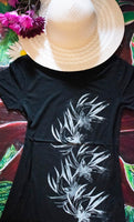 Night Bloom Black T-Shirt Small