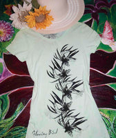 Night Bloom Hand Dyed Light Green Medium TShirt