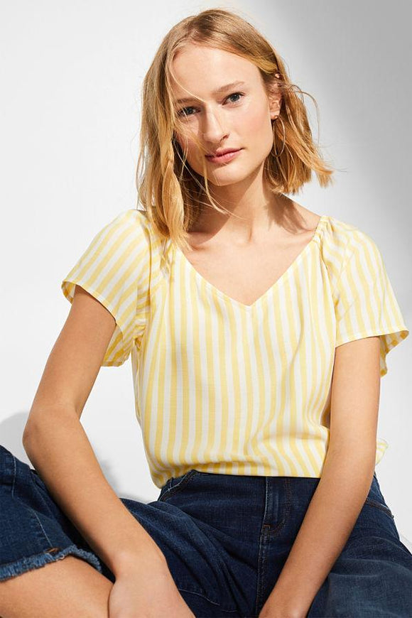 Esprit Yellow Striped Blouse