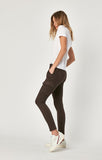 Mavi Juliette Skinny Cargo Pants in Black Coffee Twill