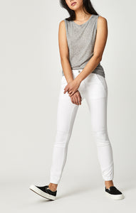 Mavi Ivy Relaxed Cargo Pants in White