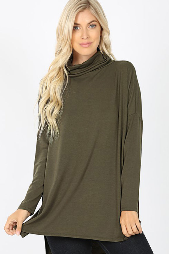 BK Basics Long Sleeve Cowl Neck