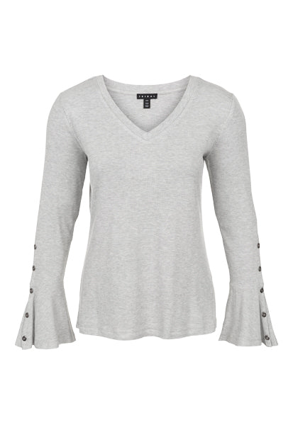 Tribal Trumpet Long Sleeve Top (Black or Grey)