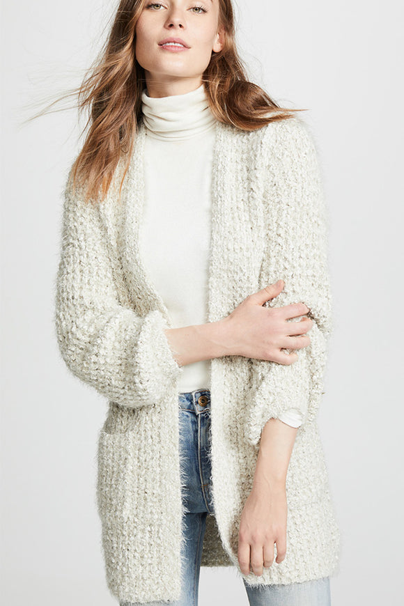 BB Dakota Fuzzy Cardi (Black or Oatmeal)