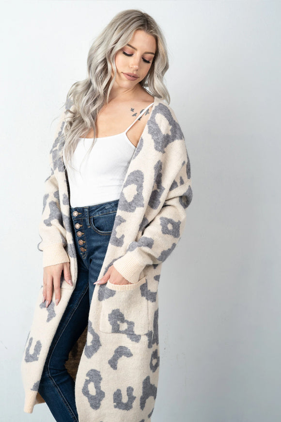 BK Brand Find Your Way Leopard Duster Cardigan – Two Colours