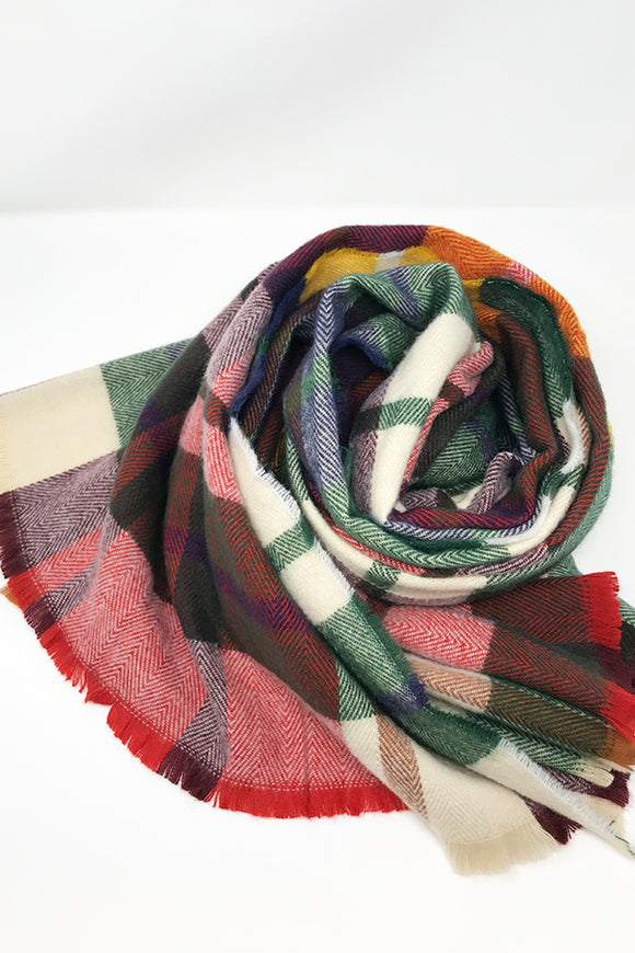 BK Scarf – Green Combo Plaid
