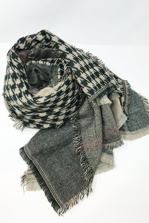 BK Scarf – Mixed Tweed Forest