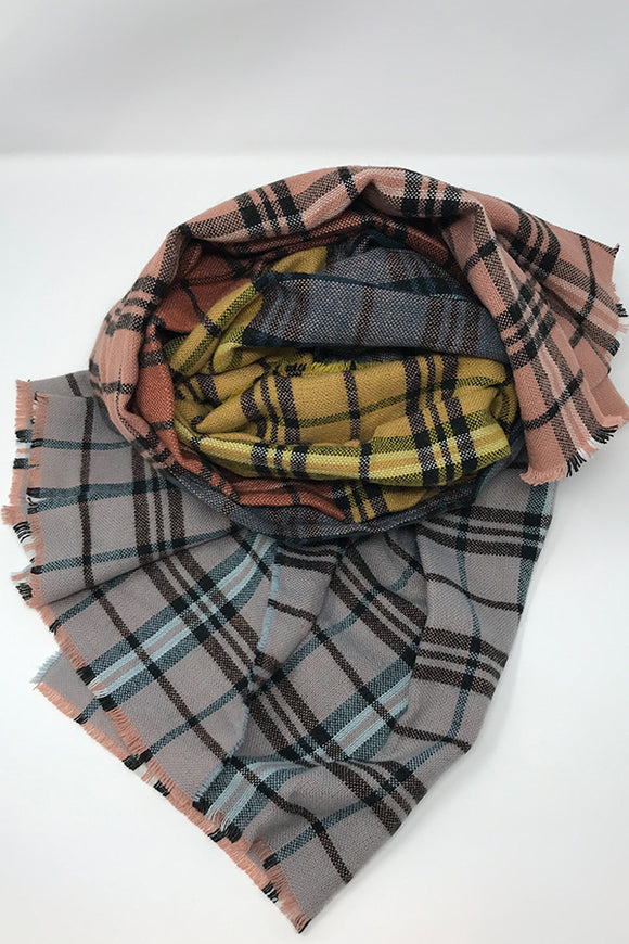 BK Scarf – Pink Combo Plaid