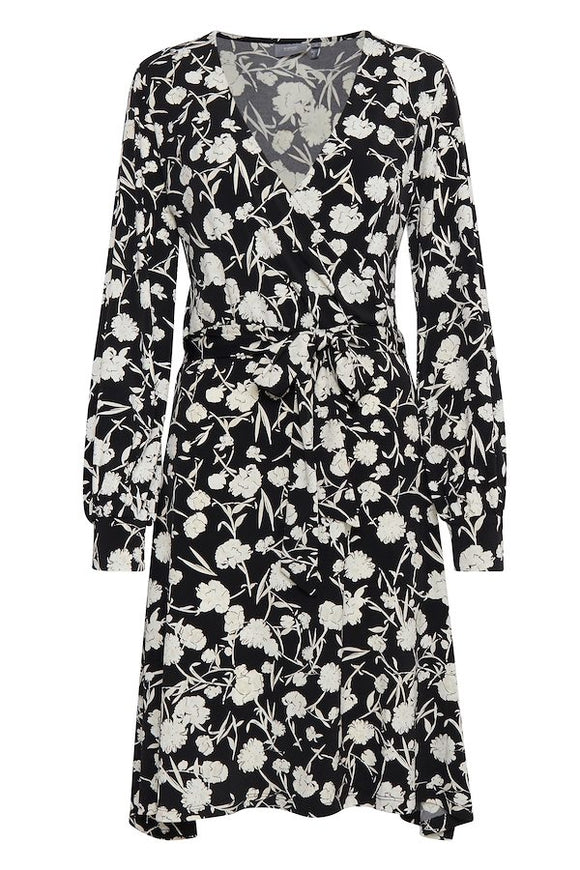 B Young Floral Combo Dress