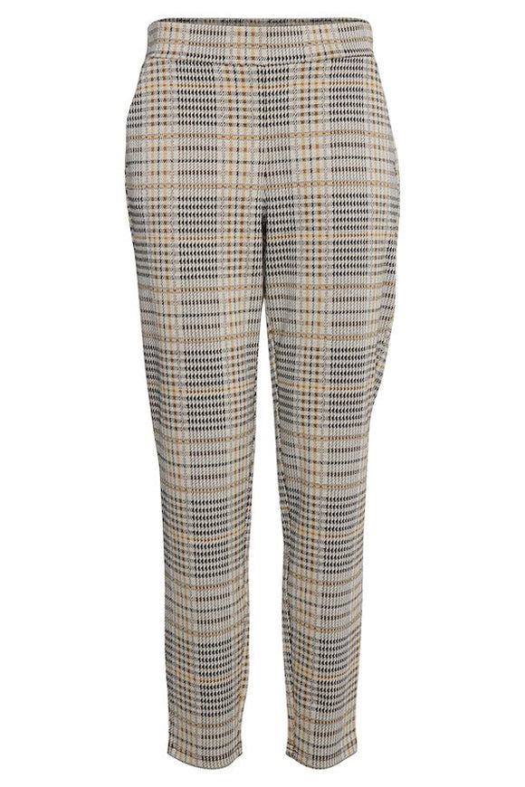 B Young Casual Plaid Pull On Trouser