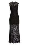 BB Dakota Black Lace Maxi Dress