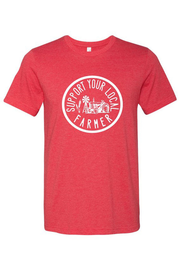 "Bks Collection Graphic Tee – ""Support Your Local Farmer"""
