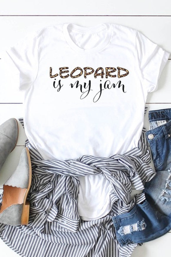 "Bks Collection Graphic Tee – ""Leopard is my Jam"""