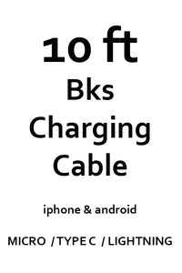 10 ft Charging Cable - Iphone / Android