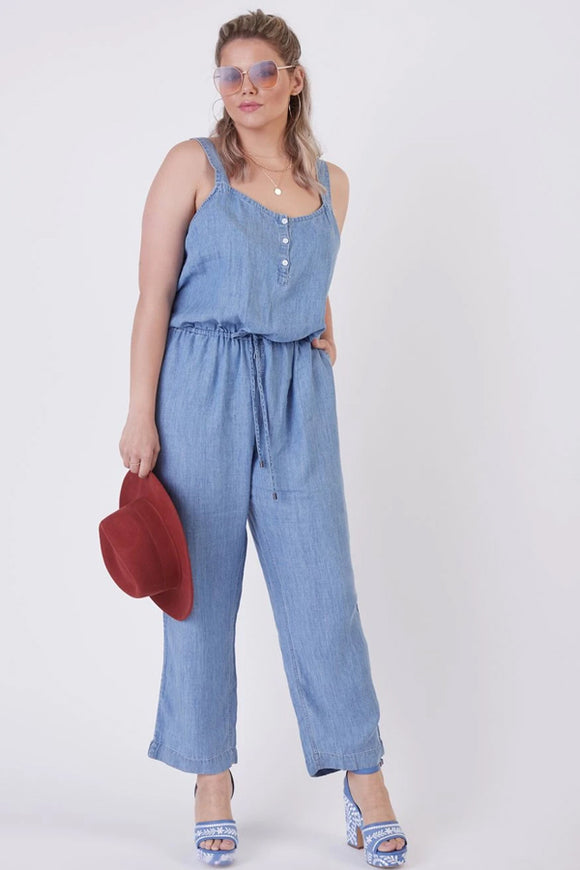 Dex Plus Drawstring Jumpsuit