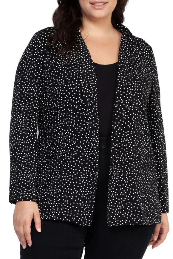 Dex Plus Scatter Dot Boyfriend Blazer
