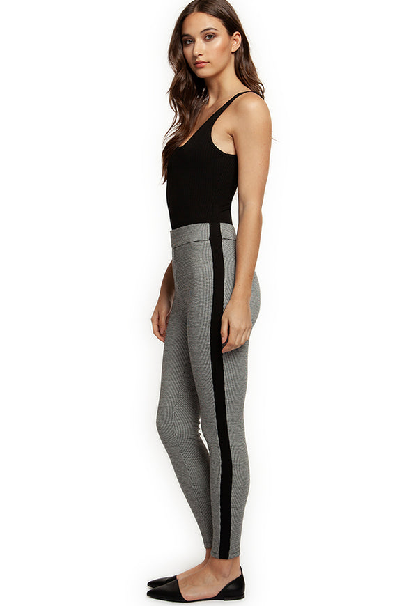Dex Hound's Tooth and Stripe Leggings