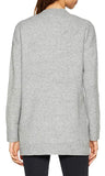 Esprit Grey Ribbed Cardigan with Brassy Buttons