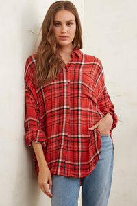 Free People Hidden Valley Button Down Top