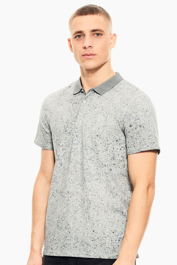 Garcia White Polo with All Over Print