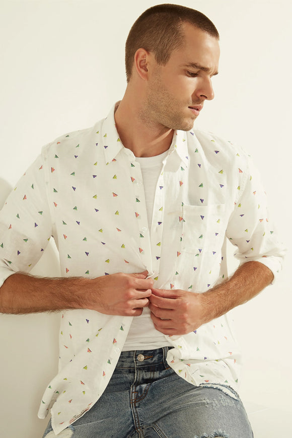Guess Collins Retro Print Shirt