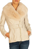 Guess Emma Faux Fur Belted Jacket