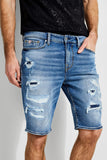 Guess Slim Destroyed Denim Short