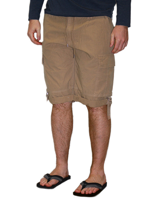 Guess Boyd Poplin Cargo Short- Honey Pie Wash