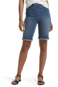 HUE Ultra Soft Denim High Waist Bermuda Short