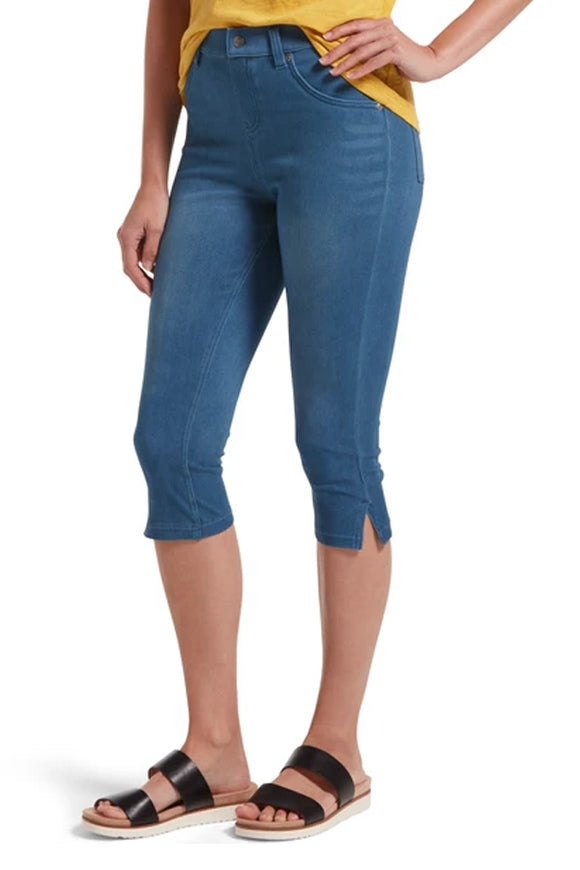 HUE Ultra Soft Denim High Waist Capri Legging