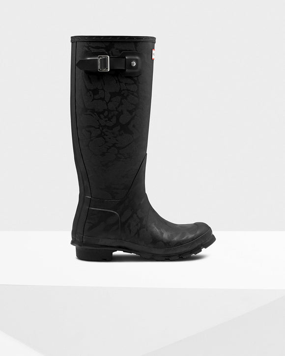 Hunter Boots Women's Original Insulated Tall Wellington Boots: Black Textured