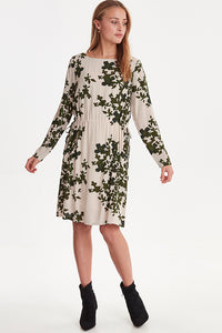 ICHI Green Floral Anelle Dress