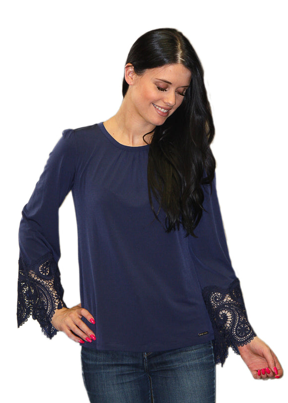 MICHAEL Michael Kors Belle Sleeved Top
