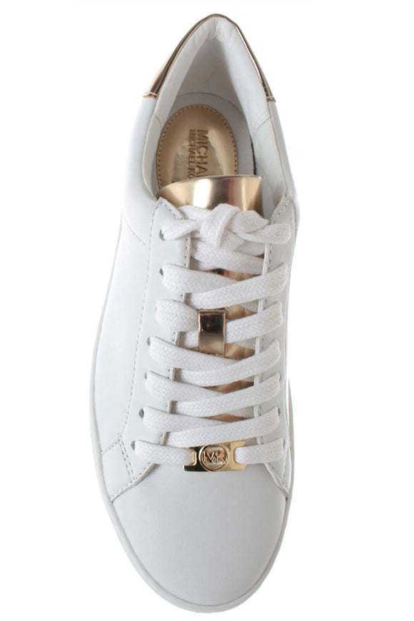 Michael Kors Irving Stripe Lace Up – Optic White & Gold