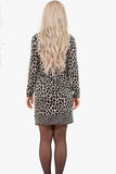 Michael Kors Long Sleeve Leopard Dress