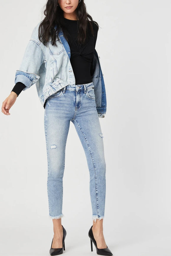 Mavi Tess Light Ripped Blue Recycled Denim
