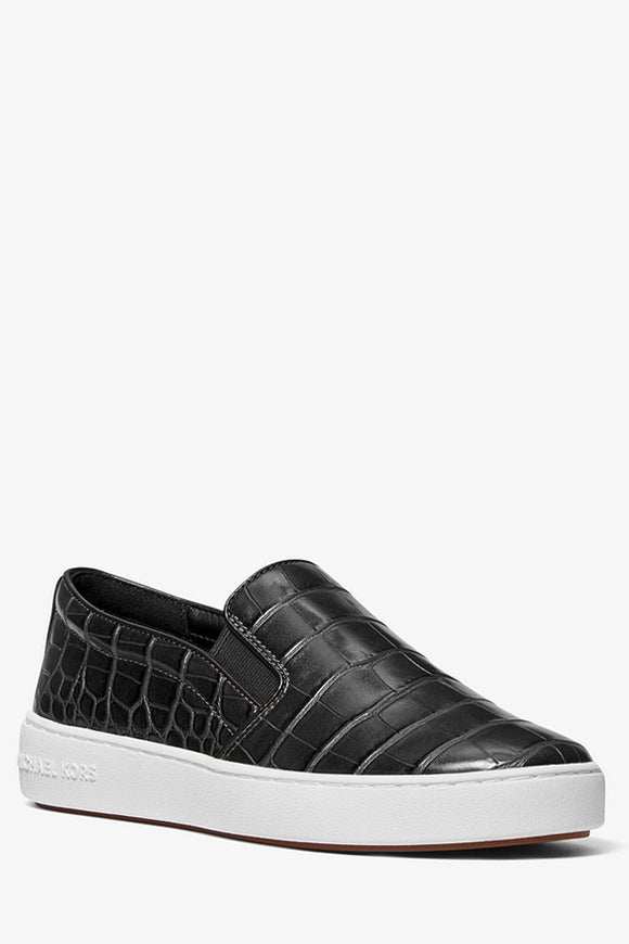 Michael Kors Keaton Crocodile Embossed Slip-On Sneaker