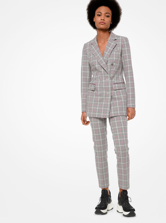 Glen Plaid Twill Blazer Michael by MK