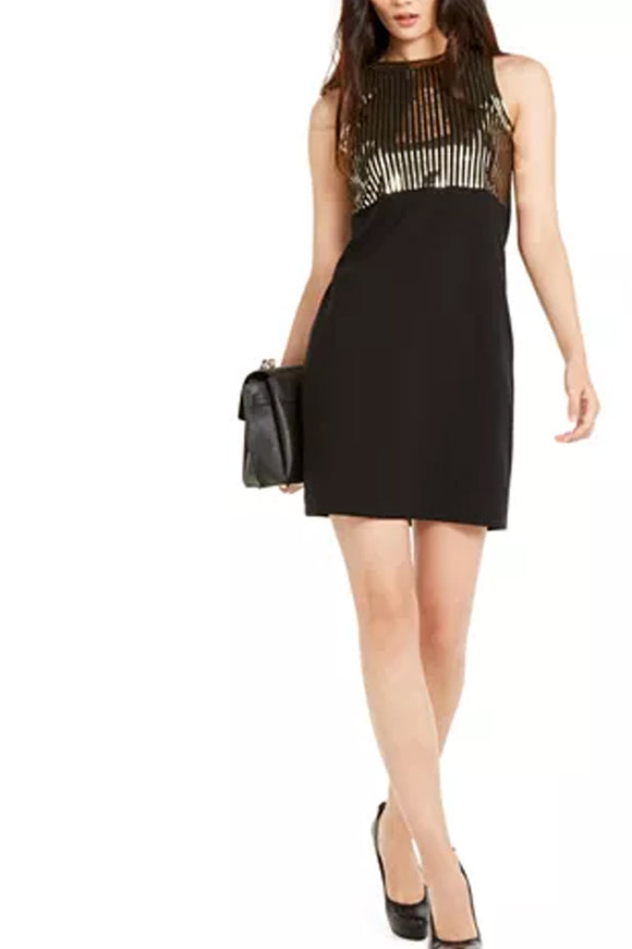 Michael by Michael Kors  Sequined Sleeveless Dress