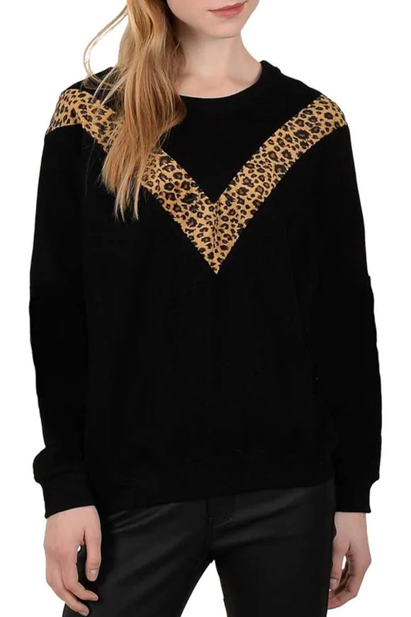 Molly Bracken Cheetah Print Sweater
